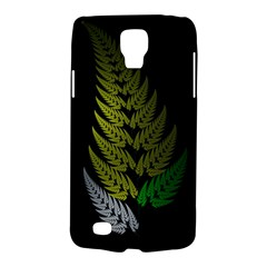 Drawing Of A Fractal Fern On Black Galaxy S4 Active