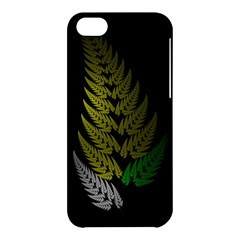 Drawing Of A Fractal Fern On Black Apple iPhone 5C Hardshell Case
