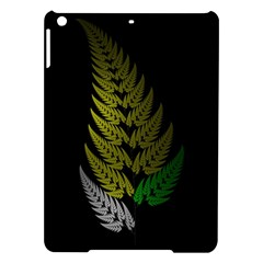 Drawing Of A Fractal Fern On Black iPad Air Hardshell Cases