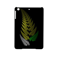 Drawing Of A Fractal Fern On Black iPad Mini 2 Hardshell Cases