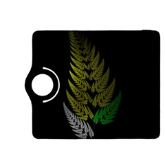 Drawing Of A Fractal Fern On Black Kindle Fire HDX 8.9  Flip 360 Case
