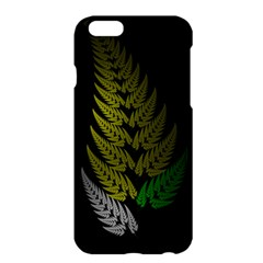 Drawing Of A Fractal Fern On Black Apple iPhone 6 Plus/6S Plus Hardshell Case