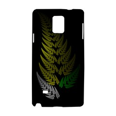 Drawing Of A Fractal Fern On Black Samsung Galaxy Note 4 Hardshell Case