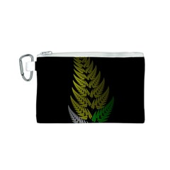 Drawing Of A Fractal Fern On Black Canvas Cosmetic Bag (S)