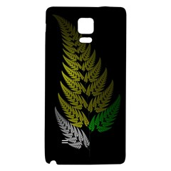 Drawing Of A Fractal Fern On Black Galaxy Note 4 Back Case
