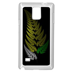 Drawing Of A Fractal Fern On Black Samsung Galaxy Note 4 Case (white)