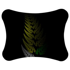 Drawing Of A Fractal Fern On Black Jigsaw Puzzle Photo Stand (bow)