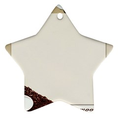 Greeting Card Coffee Mood Ornament (star)