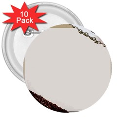 Greeting Card Coffee Mood 3  Buttons (10 Pack)