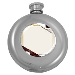 Greeting Card Coffee Mood Round Hip Flask (5 oz)
