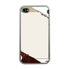 Greeting Card Coffee Mood Apple iPhone 4 Case (Clear)