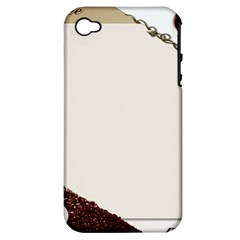 Greeting Card Coffee Mood Apple iPhone 4/4S Hardshell Case (PC+Silicone)