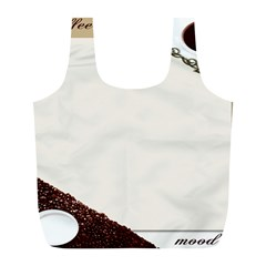 Greeting Card Coffee Mood Full Print Recycle Bags (L)