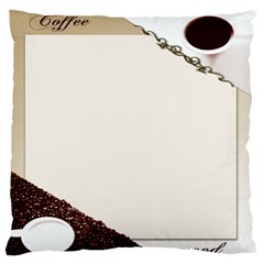 Greeting Card Coffee Mood Large Flano Cushion Case (one Side)