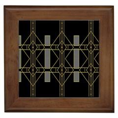 Simple Art Deco Style  Framed Tiles