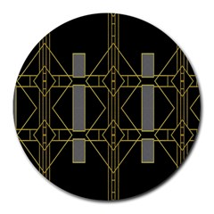 Simple Art Deco Style  Round Mousepads