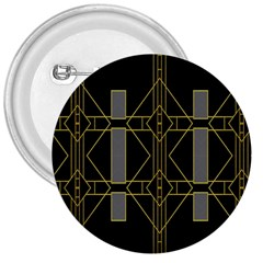 Simple Art Deco Style  3  Buttons