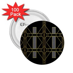 Simple Art Deco Style  2 25  Buttons (100 Pack)