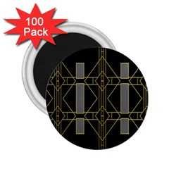 Simple Art Deco Style  2 25  Magnets (100 Pack)