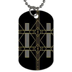 Simple Art Deco Style  Dog Tag (One Side)