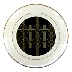 Simple Art Deco Style  Porcelain Plates