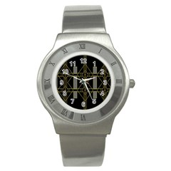Simple Art Deco Style  Stainless Steel Watch