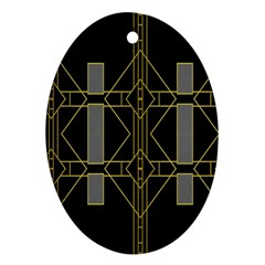 Simple Art Deco Style  Oval Ornament (two Sides)