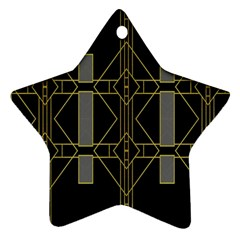 Simple Art Deco Style  Star Ornament (two Sides)