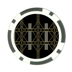 Simple Art Deco Style  Poker Chip Card Guard