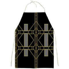 Simple Art Deco Style  Full Print Aprons