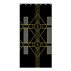 Simple Art Deco Style  Shower Curtain 36  X 72  (stall)