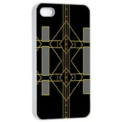 Simple Art Deco Style  Apple Iphone 4/4s Seamless Case (white)