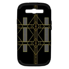 Simple Art Deco Style  Samsung Galaxy S III Hardshell Case (PC+Silicone)