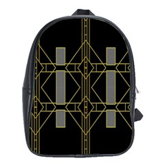 Simple Art Deco Style  School Bags (XL)