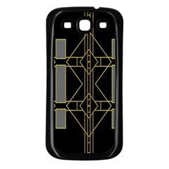 Simple Art Deco Style  Samsung Galaxy S3 Back Case (black)