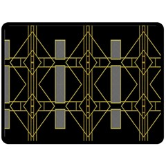 Simple Art Deco Style  Double Sided Fleece Blanket (Large)