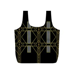 Simple Art Deco Style  Full Print Recycle Bags (S)