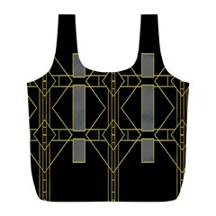 Simple Art Deco Style  Full Print Recycle Bags (l)