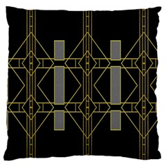 Simple Art Deco Style  Large Flano Cushion Case (One Side)