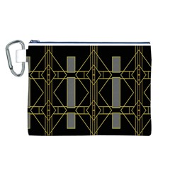 Simple Art Deco Style  Canvas Cosmetic Bag (l)