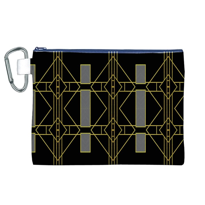 Simple Art Deco Style  Canvas Cosmetic Bag (XL)