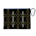 Simple Art Deco Style  Canvas Cosmetic Bag (XL) Back