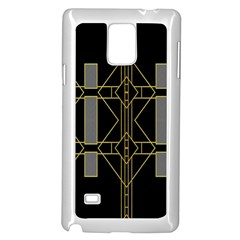 Simple Art Deco Style  Samsung Galaxy Note 4 Case (White)