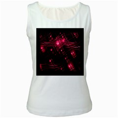 Picture Of Love In Magenta Declaration Of Love Women s White Tank Top