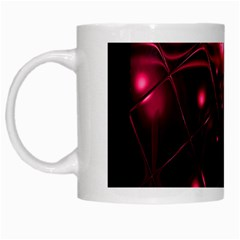 Picture Of Love In Magenta Declaration Of Love White Mugs