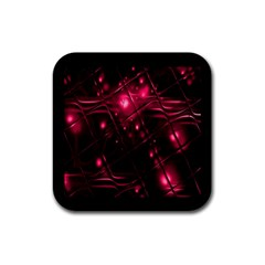 Picture Of Love In Magenta Declaration Of Love Rubber Coaster (square)