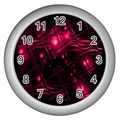 Picture Of Love In Magenta Declaration Of Love Wall Clocks (silver)