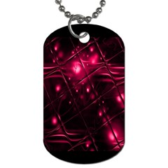 Picture Of Love In Magenta Declaration Of Love Dog Tag (one Side)