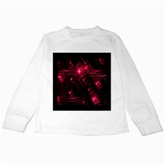 Picture Of Love In Magenta Declaration Of Love Kids Long Sleeve T-Shirts