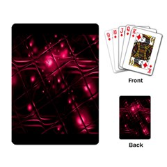Picture Of Love In Magenta Declaration Of Love Playing Card